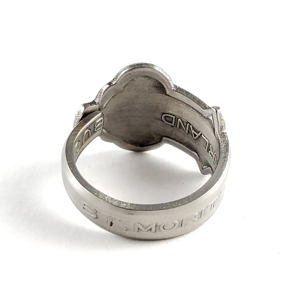 Rolex Swiss Cross St Moritz Stainless Steel Spoon Ring by Midnight Jo