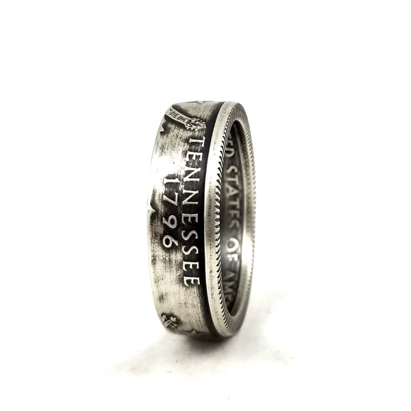 Silver Tennessee Quarter Ring by midnight jo