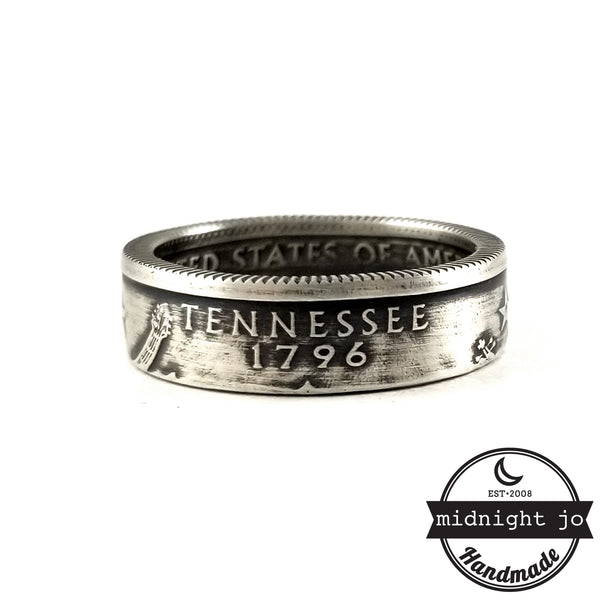 Silver Tennessee Quarter coin Ring by midnight jo