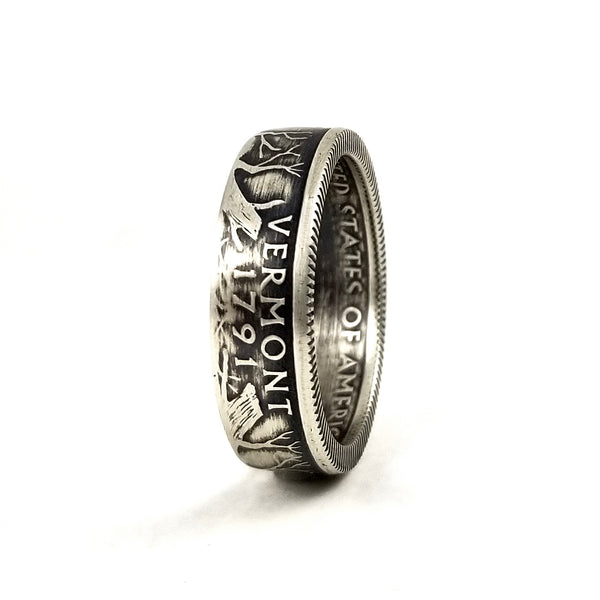 Silver Vermont Coin Ring by midnight jo