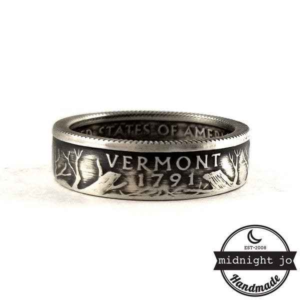 Silver Vermont quarter Ring by midnight jo