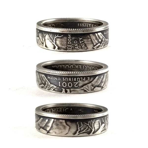 Silver Vermont quarter Coin Ring