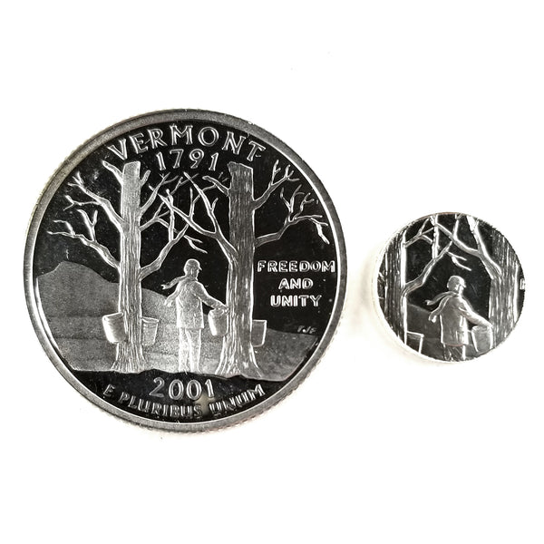 silver vermont proof quarter