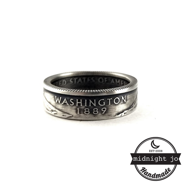 washington double sided coin ring