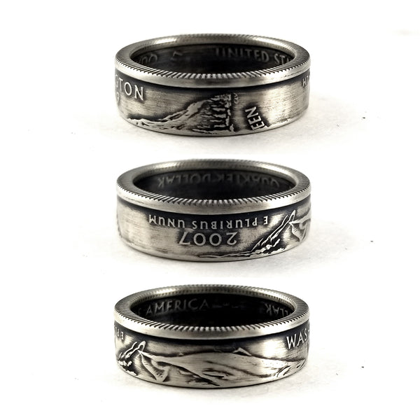 90% Silver Washington State quarter Coin Ring by midnight jo