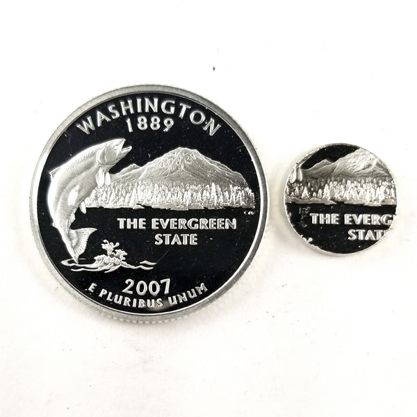 silver washington state proof quarter