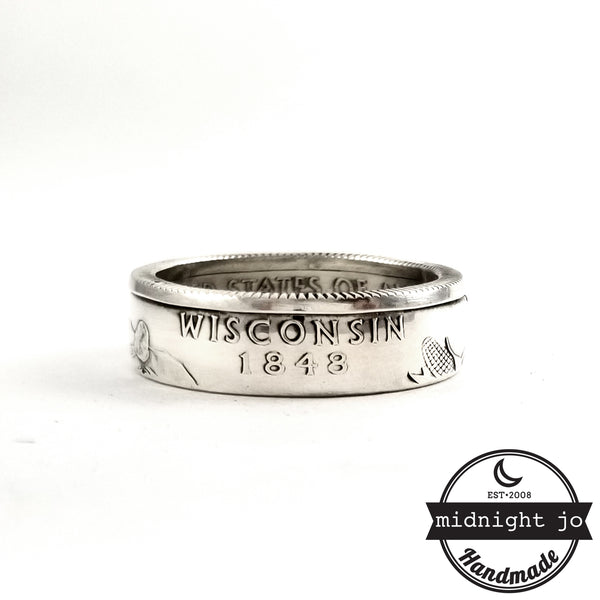 90% Silver Iowa quarter Ring by midnight jo