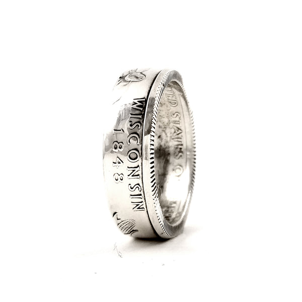 90% Silver Wisconsin Coin Ring by midnight jo
