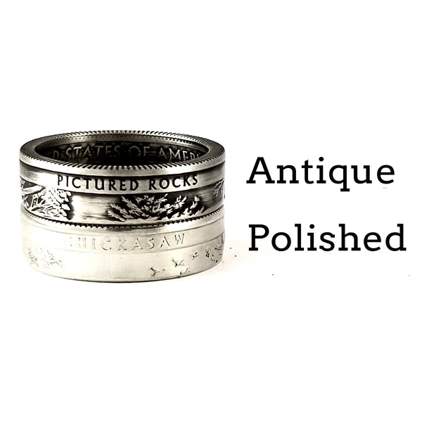 90% Silver National Park Quarter Ring by Midnight Jo