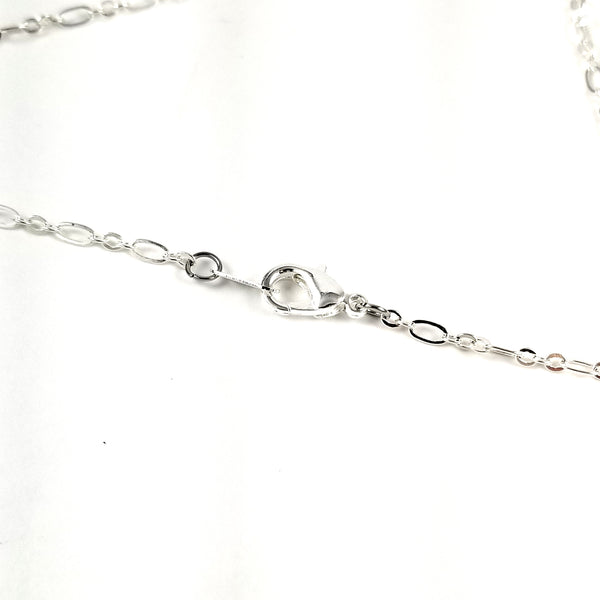silver plated chain lobster clasp