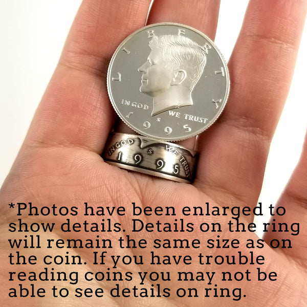 90% Silver 1992-2019 JFK Half Dollar Ring by midnight jo