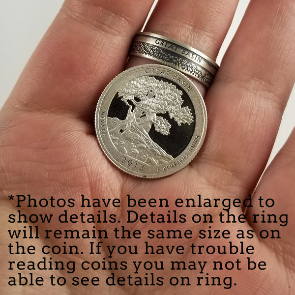 99.9% Fine Silver War in the Pacific National Park Quarter Ring