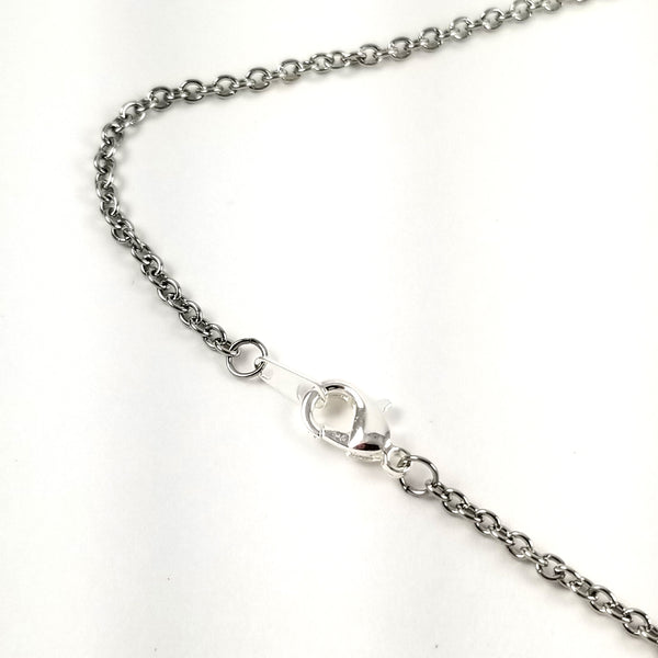 stainless steel bar necklace