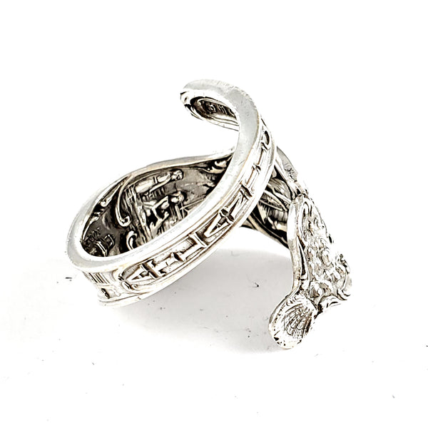 Sterling Silver Atlantic City Souvenir Spoon Ring by Midnight Jo