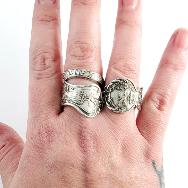 Vintage Florida Silverplate Souvenir Spoon Ring - Made to Order