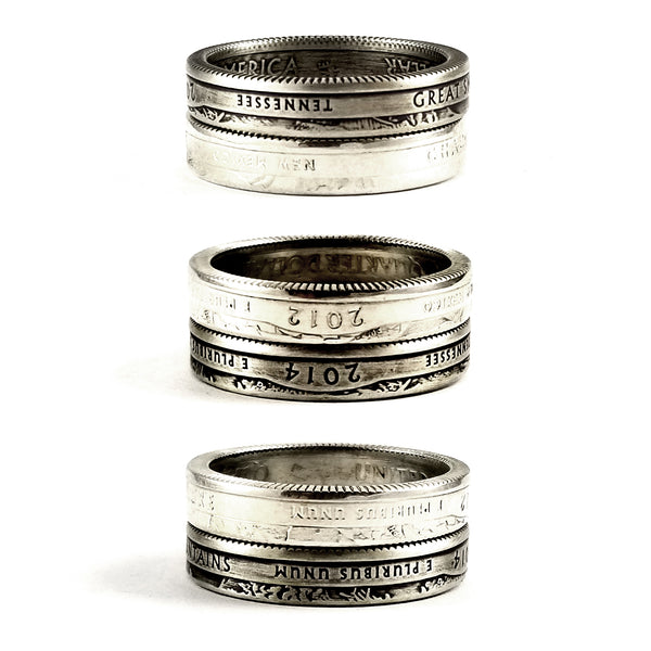 Silver National Park Stacking Coin Ring by midnight jo