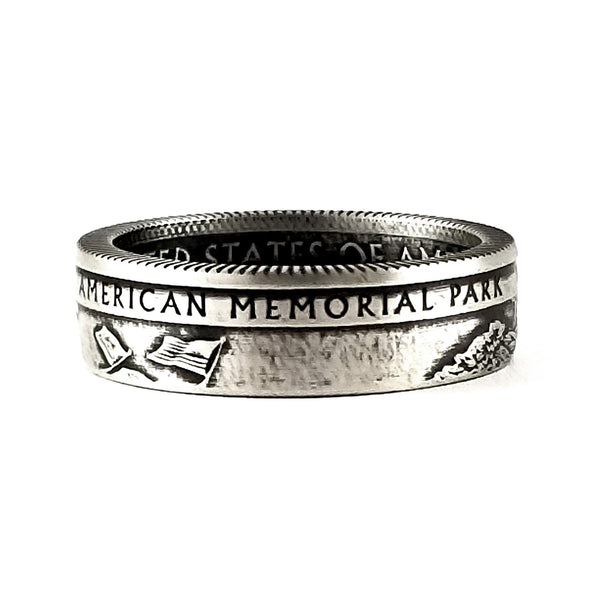 silver american memorial park quarter ring by midnight jo