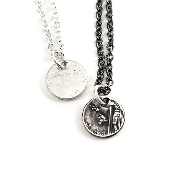 Silver State Quarter Layering Charm Necklace by midnight jo