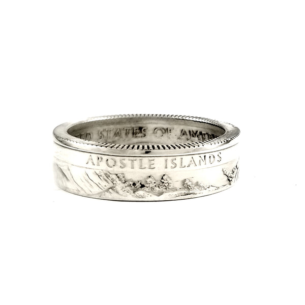 Silver Apostle Islands National Park Quarter Ring by midnight jo