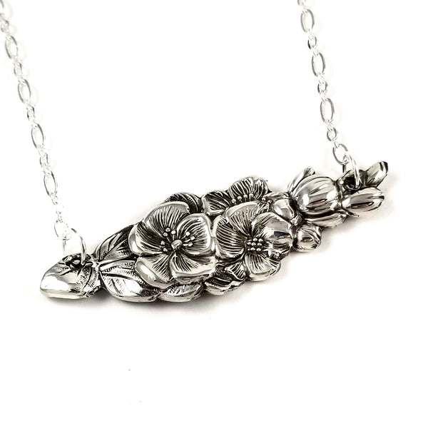 Harlequin Apple Blossom Spoon Bar Necklace by midnight jo