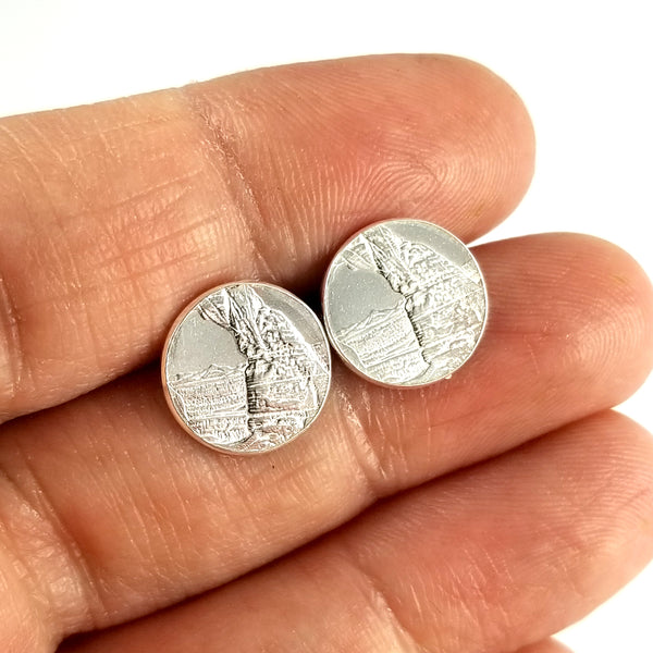 arches national park coin stud earrings by midnight jo