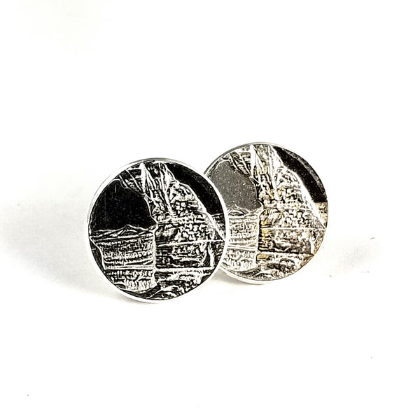 Silver Arches National Park Stud Earrings by midnight jo