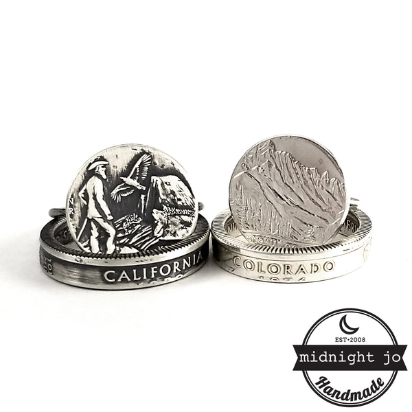 Silver State Quarter Punch Out Stacking Ring Set by Midnight Jo