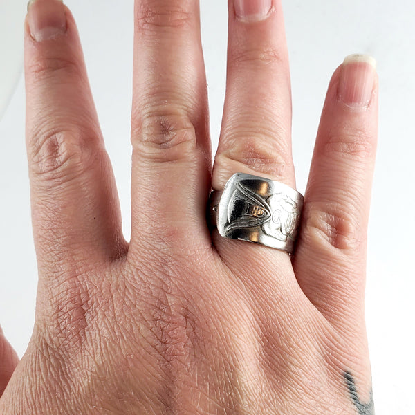 Vintage Imperial 1966 Batman Stainless Steel Spoon Ring by Midnight Jo