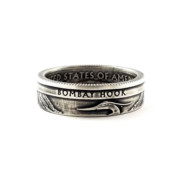 90% Silver Bombay Hook National Park coin Ring by Midnight Jo