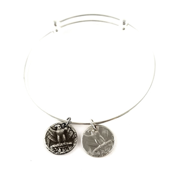 1965-1998 Washington Quarter Eagle Charm Bangle by Midnight Jo