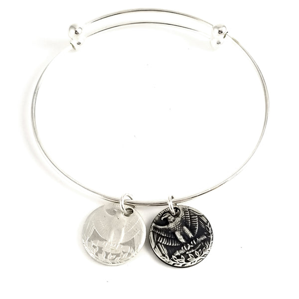 Silver Washington Coin Eagle Charm Bracelet by midnight jo