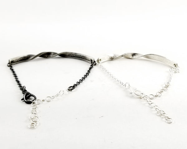 silver state quarter twisted bar bracelet by midnight jo