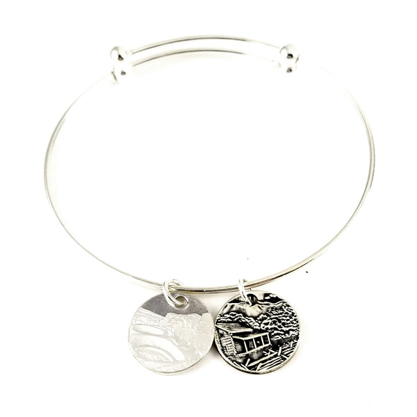 Silver National Park Quarter Large Punch Out Charm Bracelet by midnight jo