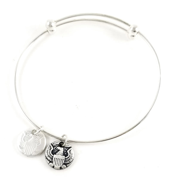 90% Silver JFK Half Dollar Punch Out Charm Bracelet by Midnight Jo