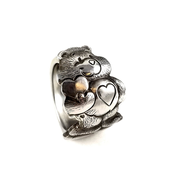 Vintage Tenderheart Care Bear Stainless Steel Spoon Ring by midnight jo
