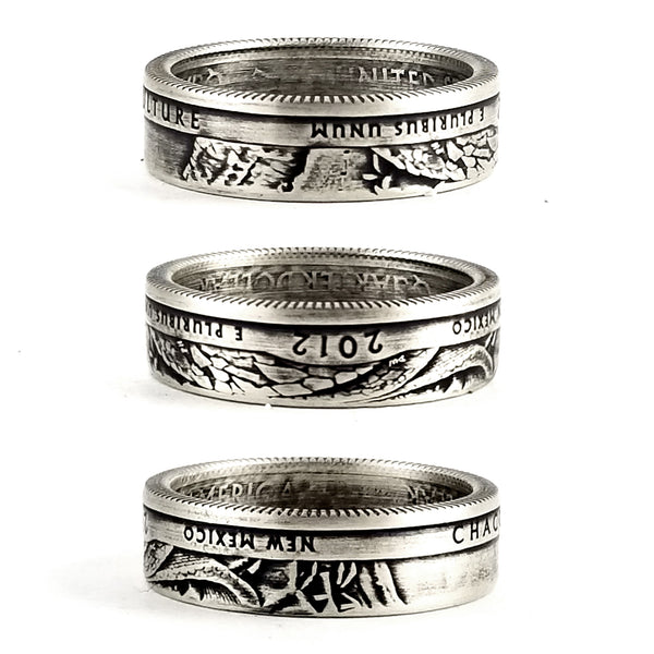 90% Silver Chaco Culture National Park Coin Ring by Midnight Jo