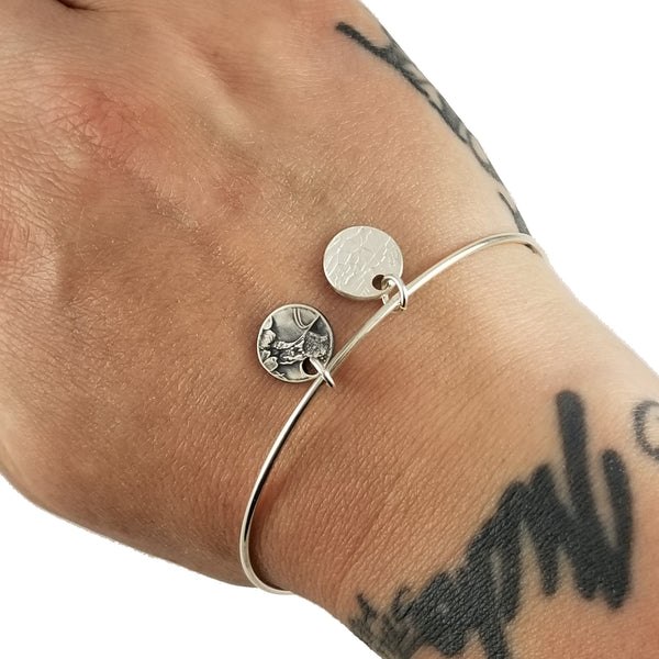 Silver National Park Quarter Charm Bangle by midnight jo