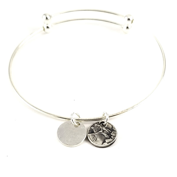 Silver National Park Quarter Charm Bracelet by midnight jo