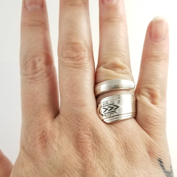 Oneida Chevron Wrap Around Spoon Ring by Midnight Jo