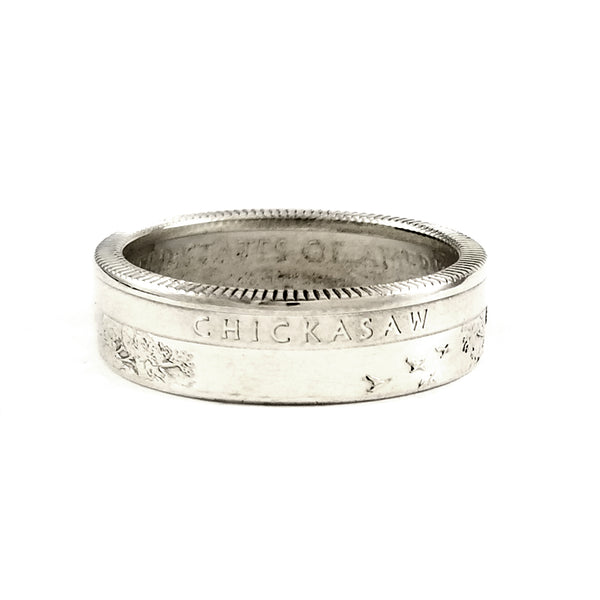 Silver Chickasaw National Park Quarter Ring by Midnight Jo