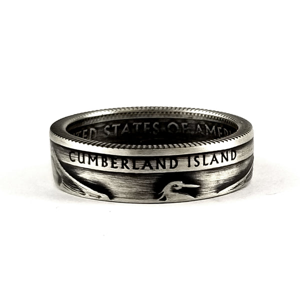 Silver Cumberland Island National Park Coin Ring by Midnight Jo