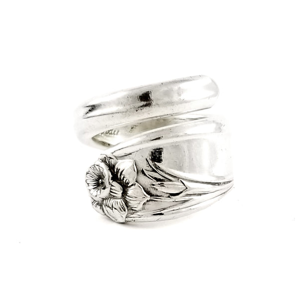 1847 Rogers Daffodil Wrap Around Spoon Ring by Midnight Jo