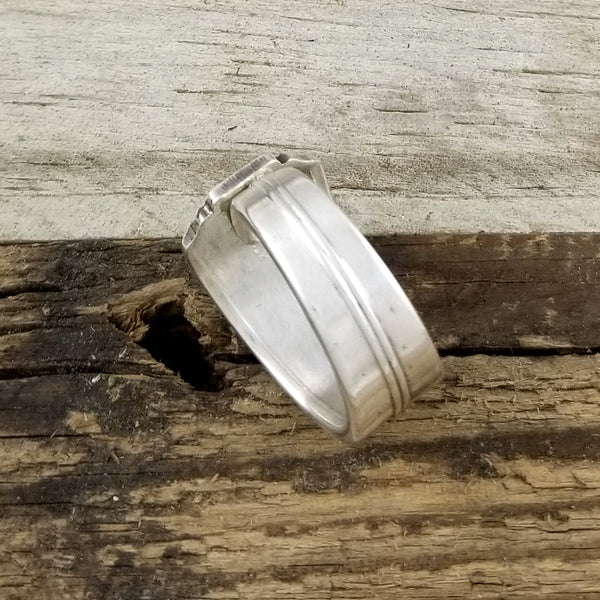handmade silver plate spoon ring