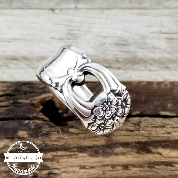 Eternally Yours Silver Plate Spoon Ring