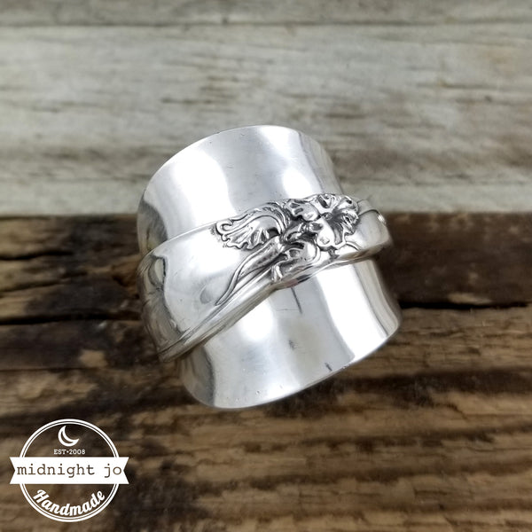 White Orchid Demitasse Spoon Ring