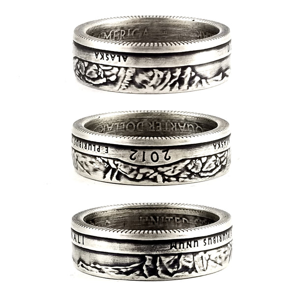 90% Silver Denali National Park Quarter Ring by midnight jo