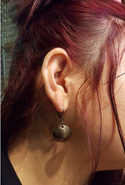 domed quarter earrings