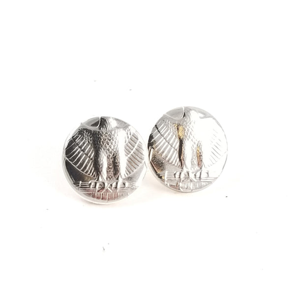 90% Silver Washington Quarter Punch Out Stud Earrings by Midnight Jo
