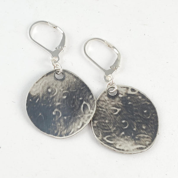 Sterling & Coin Silver Eco Chic Textured Earrings by Midnight Jo