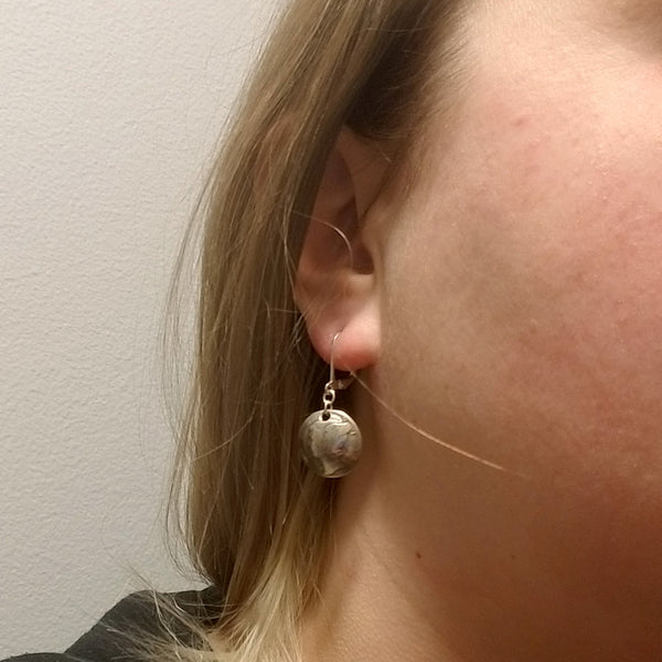 Mercury Dime Drop Earrings by Midnight Jo